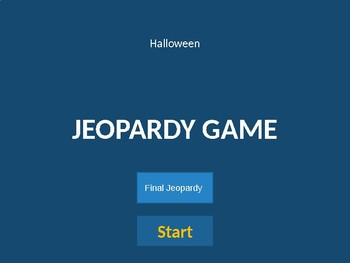 Halloween Jeopardy Game