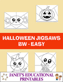 Halloween Jigsaws - Black and White - Easy