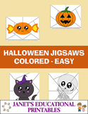 Halloween Jigsaws - Colored - Easy