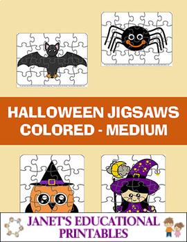 Halloween Jigsaws - Colored - Medium