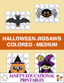 Halloween Jigsaws - Colored - Medium
