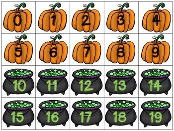 Halloween Jitters - Counting Freebie