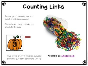 Halloween Jitters - Counting Freebie