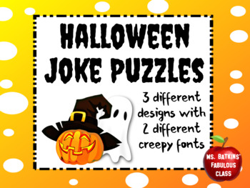 Halloween Joke Puzzles Fun Activity
