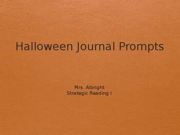 Halloween Journal Prompts