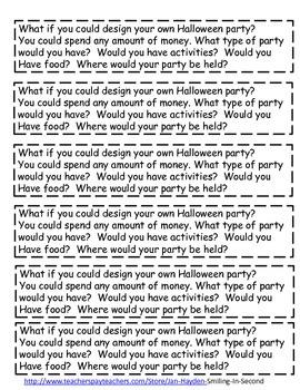 Halloween Journal Prompts Freebie