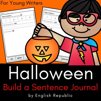 Halloween Journal and Sketchbook for Beginner Writers - No Prep!
