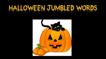 Halloween Jumbled Words Activity