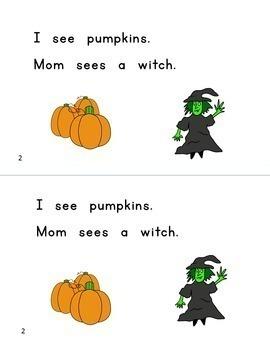 Guided Reading Books & Word Work BUNDLE, PreK-1: Halloween