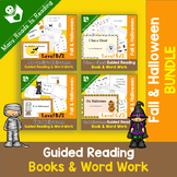 Halloween Guided Reading Books and Word Work BUNDLE PreK-1
