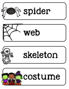 Halloween K-2 Differentiated Writing Paper, Prompts, Centers, Word Wall, & More!