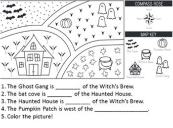 Halloween Map KidPix Template