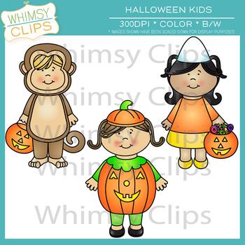 Little Shorties Halloween Kids Clip Art