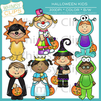 Little Shorties Halloween Kids Clip Art