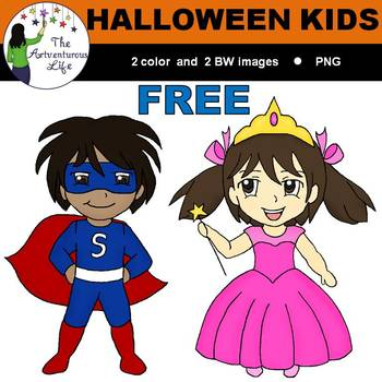 Halloween Kids Clip Art FREE