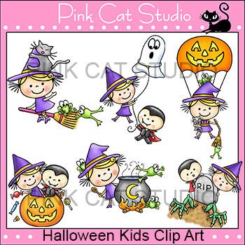 Halloween Kids Clip Art – Personal or Commercial Use