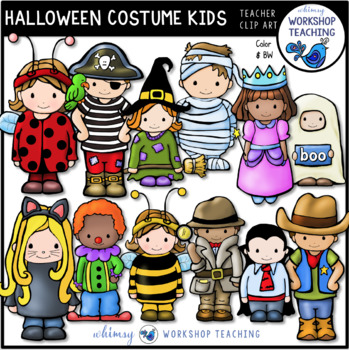 Halloween Kids Clip Art - Whimsy Workshop Teaching