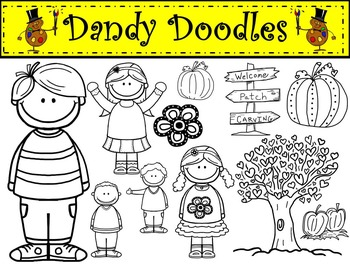 Halloween Kids Clip Art by Dandy Doodles