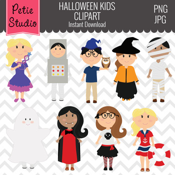 Halloween Kids Clipart - Fall113