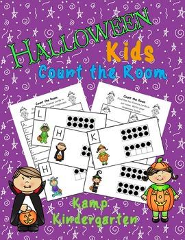 Halloween Kids Count the Room