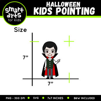 Halloween Kids Pointing Clipart