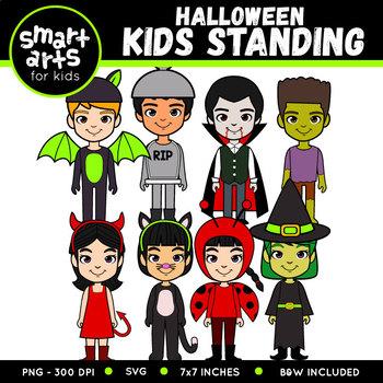 Halloween Kids Standing Clipart