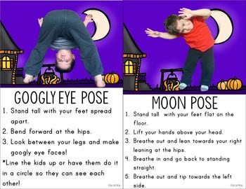 Halloween Kids Yoga Cards and Printables - Halloween Activity