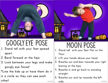 Halloween Kids Yoga Cards and Printables - Halloween Activity