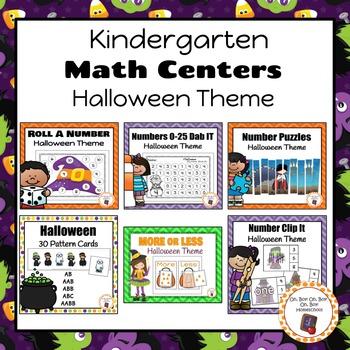 Halloween Kindergarten Math Centers BUNDLE