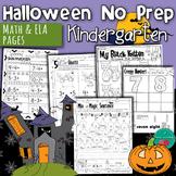 Halloween Activities for Kindergarten No Prep Math and Lit