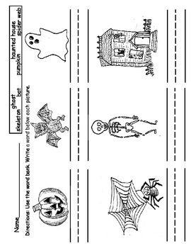 Halloween Kindergarten Assortment (sets to 10, emergent reader, vocabulary)