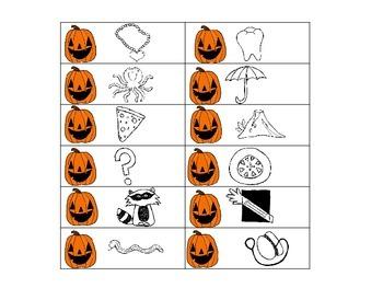 Halloween Kindergarten Beginning Sound Wordle