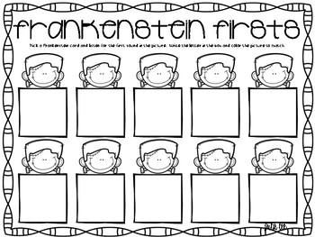 Halloween Kindergarten Creepy Math and Literacy Centers
