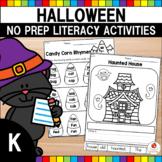 Halloween Kindergarten Language Arts Worksheets