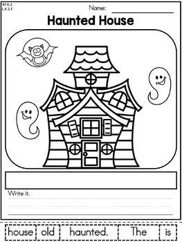 Halloween Kindergarten Language Arts Worksheets by United ...
