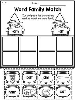 Halloween Literacy Worksheets No Prep (Kindergarten)