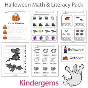 Halloween Kindergarten Learning Pack