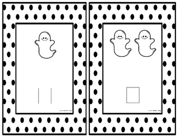 Halloween Kindergarten Math Center 1-10