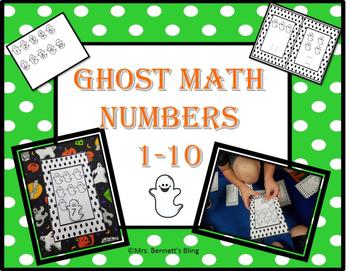Halloween Kindergarten Math Center 1-10