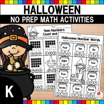halloween math worksheets kindergarten by united teaching  tpt halloween math worksheets kindergarten