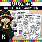 Halloween Math Worksheets (Kindergarten)