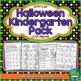 Halloween Kindergarten Pack, No Prep, CCSS Aligned