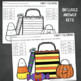 Halloween Math and Literacy No-Prep Worksheets for Kindergarten