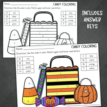 Halloween Math and Reading No-Prep Worksheets for ...
