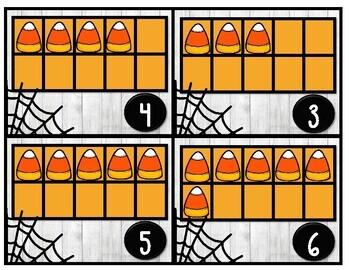 Halloween Kindergarten Stations and Centers Tens Frames