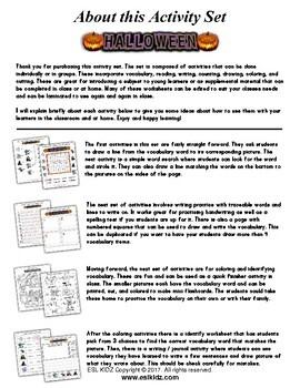 Halloween Kindergarten Workbook with Activities