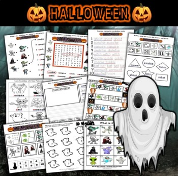 Halloween Kindergarten Workbook with Activities