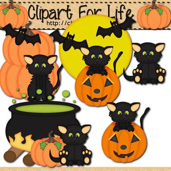Halloween Kitties Clipart