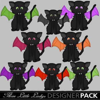 Halloween Kitty Bats