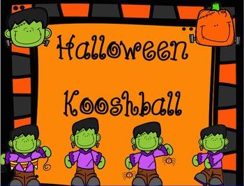 Halloween Kooshball Game for SMARTboard
